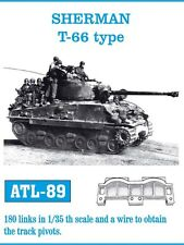 1/35 ATL89 FRIULMODEL METAL TRACKS for US SHERMAN w/ T-66 TYPE TRACKS - PROMOTE