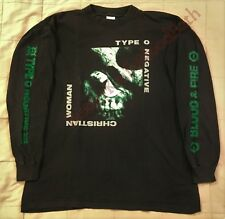 1994 Type O Negative Vtg Christian Woman 69 Long Sleeve T-Shirt Bloody Kisses
