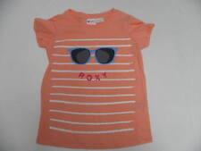 Roxy Kids 5T Medium T-Shirts Sunny Smile Stripes Sunglasses Peach Tee