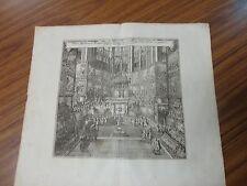 "1654 Church Scene fr.1745 Johann Ludwig Goffrieds ""Historische Chronica"""