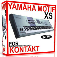 YAMAHA MOTIF XS For NI KONTAKT NKI Patches/Presets/Sounds 7 DVD'S 24GB