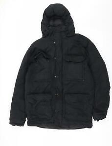 H&M Womens Black   Parka Coat Size S