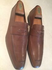 NEW!! MEZLAN 'FRESCO' MENS TAN/MEDIUM BROWN PENNY LOAFERS/SHOES SIZE 13M $525