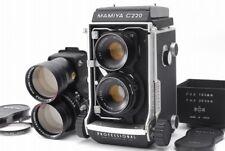 【C Normal】 Mamiya C220 Medium Format Camera 80mm / 180mm set From JAPAN Y3496