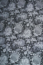 Floral  Jacquard Suiting Apparel Fabric Black Jacobean  Polyester Lot 2   BFab
