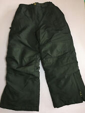 Boys LANDS END Ski Snow Pants Black Size 6 EUC