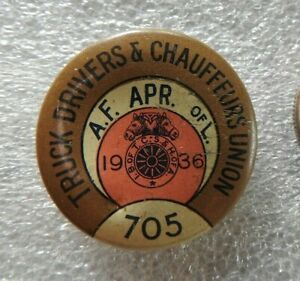 """1936 CHICAGO LOCAL 705 """"TRUCK DRIVERS & CHAUFFEURS UNION"""" Teamsters APRIL PIN"""