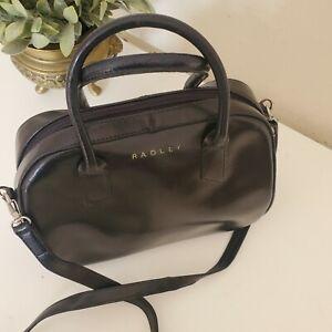 Radley Leather Vintage Tote Shoulder Bag Small Black