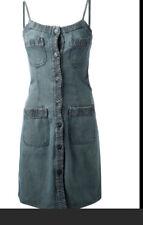 CHANEL Denim Vintage Pinafore Dress Size 36 P17131V09672  AH162 /36 Italy
