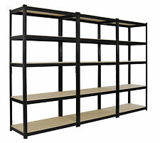 3 x Heavy Duty Boltless Shelving Rack 5 Tier Home Warehouse Shop Display Garage