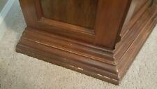 Gun Cabinet Storage Wood Deer Etched Glass Key Lock Pulaski Furniture Rifle Lite
