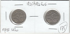 1925 & 1926 Far 6 Canada Key Date Five Cent Coins