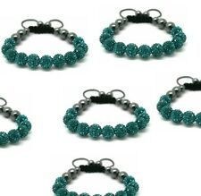 Crystal Shamballa Bracelet fit adults,kids Emerald /dark green colour