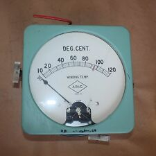 Antique Vintage Steampunk Collectors Gauge Meter 0-120 WINDING TEMP A.R.I.C.