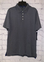 Polo Ralph Lauren Boys Shirt Size Small 8 Navy Blue with Gray Stripe