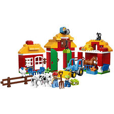 LEGO Duplo Big Farm Pretend Play Set with 2 Figures and 3 Buildings | 10525