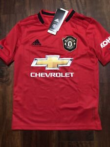 New Adidas Youth Manchester United Football Club Soccer Jersey Size Kids Small