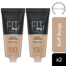 2pk Maybelline Fit Me Matte & Poreless Liquid Foundation, 130 Buff Beige 30ml