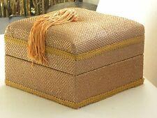 Vintage Box Large Tassel Trinket Jewelry Net Padded Top