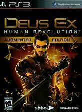 Sony Playstation 3 PS3 Game DEUS EX HUMAN REVOLUTION AUGMENTED EDITION