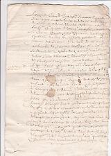 Historische Handschrift Frankreich Dokument France Manuskript rar