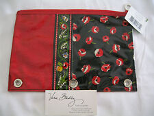 Vera Bradley POPPY FIELDS Pencil PEN Pouch 4 BACKPACK Tote PURSE Bag MAKEUP NWT~