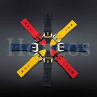 22-24 MM Lined Rubber Watch Strap Band Buckle Fits for Tag Heuer Diver 2020 New