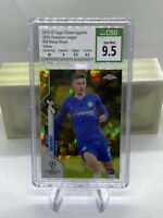 2019-20 Topps Chrome UCL Sapphire Yellow #30 Mason Mount #95/99 CSG 9.5 PSA CO