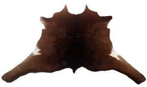 "Cowhide Rugs Calf Hide Cow Skin Rug (27""x33"") Dark Brown and White CH8256"