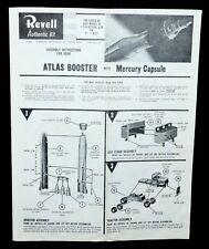 Revell Model Kit Atlas Booster Mercury Rocket #1833 Instructions Original