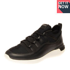 RRP €450 TOD'S Sneakers Size 42.5 UK 8.5 US 9.5 Contrast Leather & Neprene Laces
