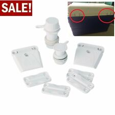 New Part Kit for Ice Chest Cooler Hinges Latches Home Replacement Fix Cooler DIY