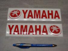 2x stickers pour Yamaha Rouge 19cm moto bike decals aufkleber pegatinas A87-027