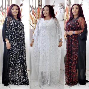 Fashion African Plus-Size Women's Slings Sequined Long Skirt Plus Inner Skirt