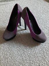 High Heels Grey Purple 4 Shoes Platform B12