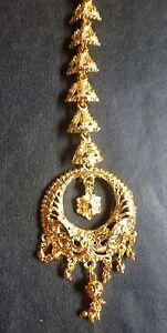 Indian Bollywood 22K Gold Plated Bridal Tikli Wedding Jewellery Maang Tikka