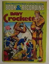 Davy Crockett Book and 45 Record