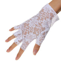 Sexy Goth Dressy Women Lady Lace Gloves Mittens Fingerless Sunscreen Gloves