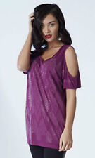 SIZE 10 OPEN SLEEVE SEQUIN/ DIAMANTE FRONT TOP YOURSTYLE  MAROON SIZE 10 bnwt