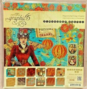 "2013 Graphic 45 Steampunk Spells 8x8 8"" Paper Pad Scrapbooking Cards NEW"