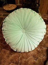 "Sea Foam Green Throw Pillow 16"" diameter by 5"" thick Velvet soft material"