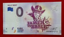 Billet Touristique Souvenir 0 euro Willy West La Mer de Sable 2018 N°1212