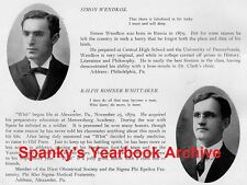 1907 Philadelphia U Penn Medical School Yearbook~Photos~History~Sports~Doctors++