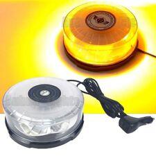 24 LED Warn Rotating Round Emergency Beacon Strobe Flash Light Bar Amber 12/24V