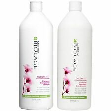MATRIX BIOLAGE COLOR LAST SHAMPOO AND CONDITIONER 1 LITRE WITH PUMPS FREE SHIP