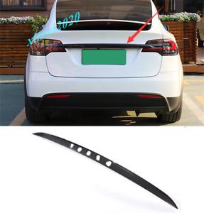 ABS Carbon Fiber Rear Trunk Tailgate Decor Strip Trim For Tesla Model X 14-20