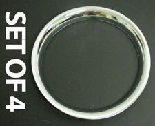 "New 17"" Chrome Beauty Glamour Steel Wheel Band Trim Rim Rings Set of Four"