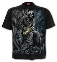 SPIRAL DIRECT REAPER BLUES T-Shirt Reaper/Biker/Skull/Goth/Gothic/Dark/Top/Tee