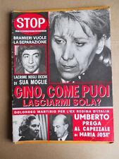 STOP n°1295 1973 Gino Bramieri Umberto e Maria Jose di Savoia  [G748]