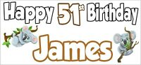 Drums 39th Birthday Personalised Banner X2 Party Decorations Mens Ladies Adult